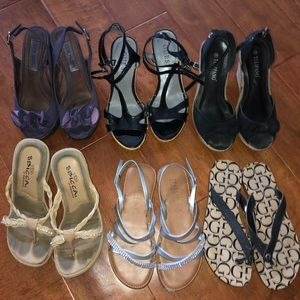 Steve Madden guess and more 6 pairs size 6 sandals